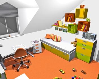 Řešení č. 1: postel 5 Domino s úložným prostorem od firmy ALAX ...