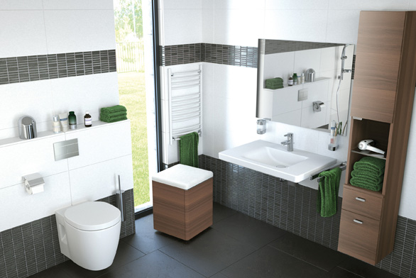 Praktické a pohodlné řešení koupelny