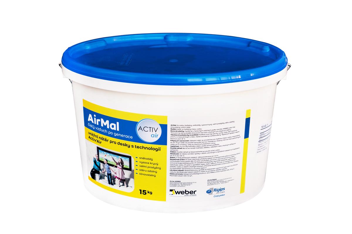 Povrchy: Nátěr AirMal odbourává formaldehyd