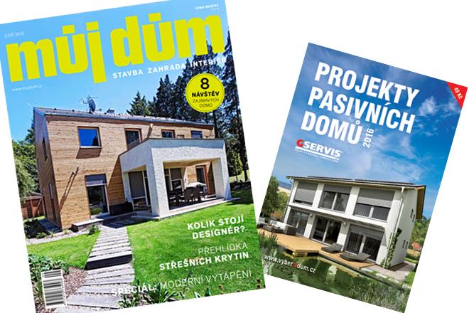 Záříjové číslo časopisu MŮJ DŮM s katalogem pasivních domů