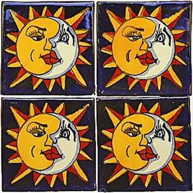 Ruční mexické obklady - se vzorem slunce