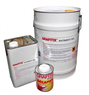 Graffitix Batiment Gel dokonale odstraňuje nátěry a omítky na bázi umělých pryskyřic z fasády, hrubé omítky, betonu, režného zdiva, dřeva, kovu apod. (WEBER-TERRANOVA)