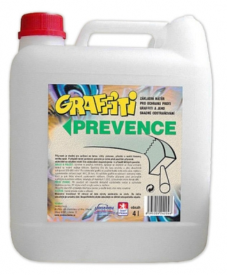 Graffiti SV (balení 4l) transparentní nátěr propouští vodní páry (stavba dýchá). Nátěr nemění vzhled, zůstává matný anedochází ke změně odstínu barvy podkladového materiálu