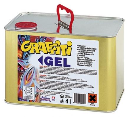 Graffiti Cleaner Gel GB 100 (4l) je velmi účinný přípravek na odstranění nátěrů anástřiků, graffiti, nitrocelulózových barev alaků, speciálních barev graffiti zdovozu avšech syntetických nátěrových hmot mimo epoxidových barev avypalovaných laků