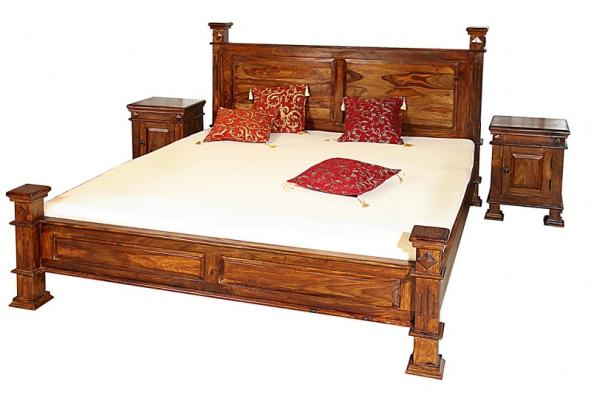 Postel Maharadža zpalisandrového dřeva vodstínu medium honey se vyrábí všíři 180cm, cena kdoptání (Rosewood)