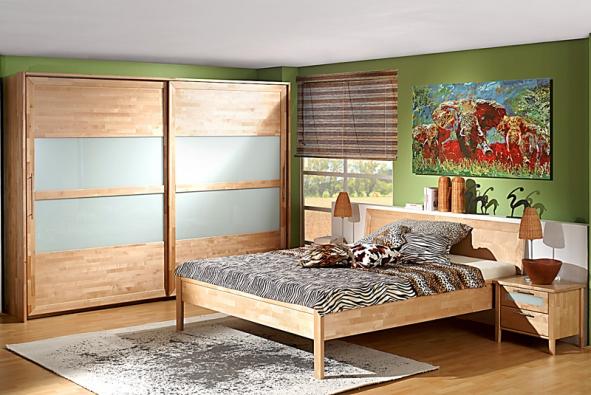 Ložnice Setra zmasivní břízy, postel je dodávána všířkách 160, 180 a200cm avdélkách 200, 210 a220cm. Cena od 11980Kč (JMP)