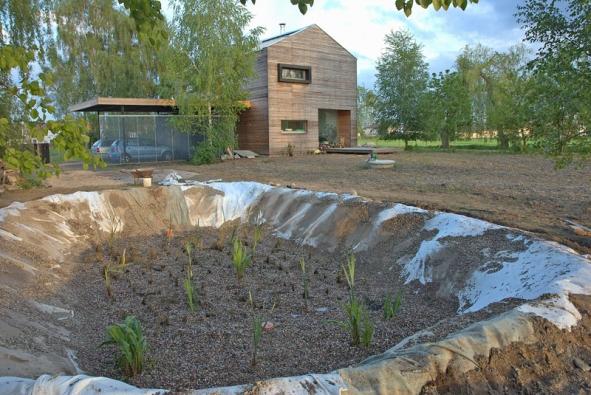 Zvýstavby kořenové čističky pro rodinný dům