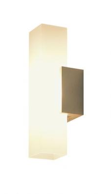 Nástěnné svítidlo Kosmo Down-Up (Delta Light), anodizovaný hliník, opálové sklo, zdroj 1x QT14 25 až 75 W, napájení 230 až 240 V/50−60 Hz, IP20, orientační cena 6400Kč (DELTA LIGHT)