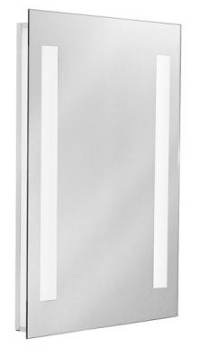 Zrcadlo sintegrovaným osvětlením Mirror 1 (Eglo), 50 x 65cm,  sklo, 2x 13W zářivky G5, T5, napájení 220 V, IP44, orientační cena 4900Kč (EGLO)