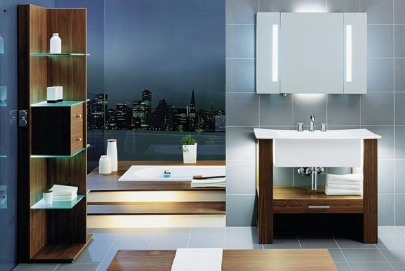 Jednoduché pravoúhlé linie jsou charakteristické pro koupelnový nábytek City Life, cena kdoptání (VILLEROY & BOCH)