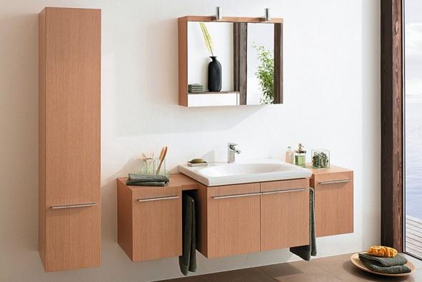 Koupelnový nábytek zkolekce Daylight vbarvě světlého dubového dřeva lze libovolně kombinovat, cena podle sestavy (IDEAL STANDARD)