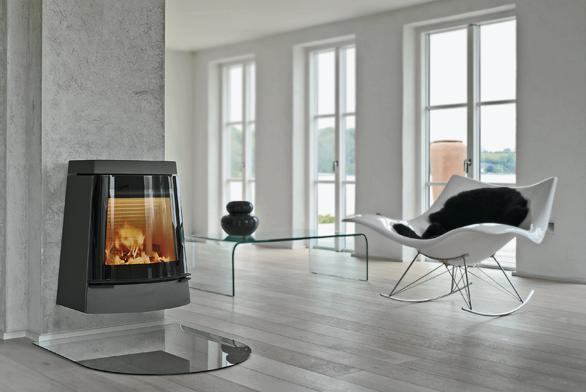 Závěsná krbová kamna Hwam 3320 byla oceněna jako vítězný skandinávský design roku 2007. Vůbec poprvé jsou tu společně uplatněny vyspělá automatika od dánského výrobce Hwam Heat Design A/S, Comfort Closing System plynulého uzavírání výsuvných dvířek aodstraňování zbytků popela pomocí absorbéru kvysavači (prodej JAKON).