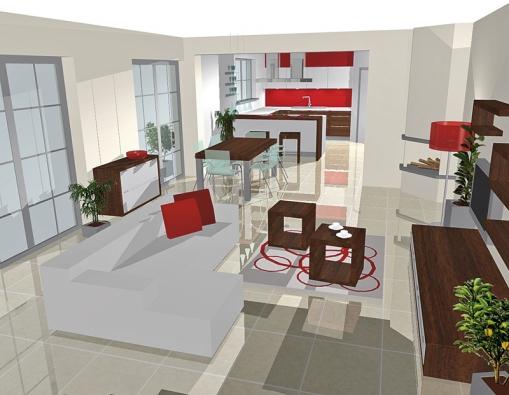 Zajímavým prvkem vobývací části jsou čtvercové konferenční stolky, které poslouží také jako sedáky, cena za kus 6 890 Kč (vyrábí NOLTE, dodává ATELIER PEDRO).