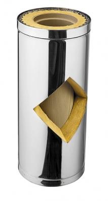 Vysoce odolný třívrstvý systém KeraStar s keramickou vložkou, tepelnou izolací a nerezovým pláštěm (Schiedel).