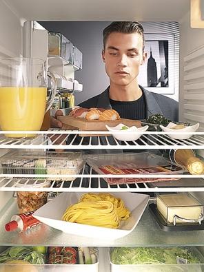 Pro ukládání různých druhů potravin jsou vchladničkách vyhrazeny odlišné zóny srozdílnou teplotou ivlhkostí (BOSCH).