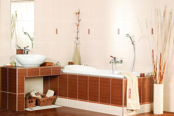 Bamboo zaujme přírodním dekorem. Obklad můžete doplnit ručníky aosuškami se stejným motivem (SIKO).
