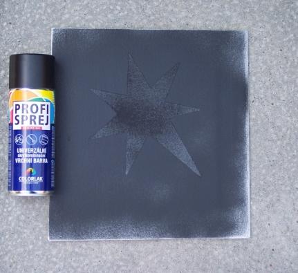 Antisprejová schopnost nátěrů FN – zošetřené plochy sprej odstraníte smetáčkem (ADVANCET MATERIALS JTJ).