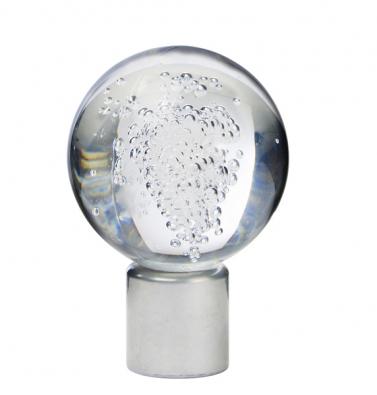 Index Lyster, záclonová koncovka (Ikea), ocel aakrylový plast. Cena 149 Kč/2ks (IKEA).