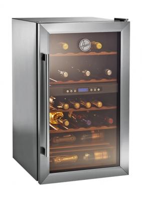 Vinotéka HWC 2336DL, kapacita  33 lahví, dvojí teplotní zóna, cena od 7599Kč (HOOVER).