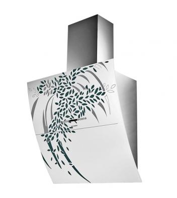 Mirror Art, komínový odsavač znerezu abílého skla, šířka 80cm, výkon  1030 m3/h, cena 39990Kč (FABER).