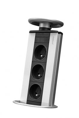 Evoline – praktický výsuvný panel se zásuvkami od výrobce SCHULTE.