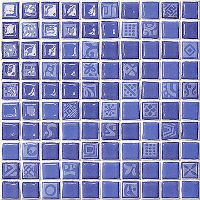 Keramický mozaikový obklad Color Vertigo (Settecento) zdobený drobnými piktogramy, cena 1668 Kč/m2 (DOLEJŠ − OBKLADY ADLAŽBY, www.dolejs.net).