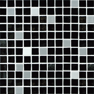 Skleněná mozaika (Vidrepur), formát mozaiky na PVC síti 30 x 30cm, cena 2361 Kč/m2 (KERAMIKA SOUKUP, www.keramikasoukup.cz).