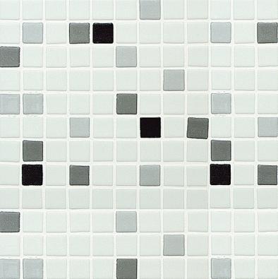 Mozaika ze série Blancos Sincro (Aparici), barevné provedení černá ašedá, cena kdoptání uprodejce (MARKINTER, www.markinter.cz).