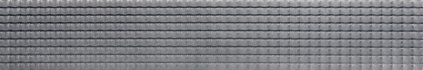 Listela Optica (Rako) imitující reliéfní mozaiku, Design edition,  netradiční zvlněná struktura, formát 29,8 x 59,8cm, cena 699 Kč/ks  (MARKETIS, www.marketis.cz).