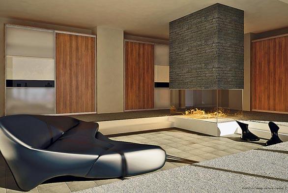 Kombinace materiálů lamino Merano, Lacomat (pískované sklo), Lacobel černý abílý povyšuje šatní skříně na netradiční designový nábytek, cena bez vnitřní zástavby 11637Kč, kolekce Woman´s view, design Petra Vranová (INDECO).