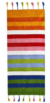 Pruhovaný koberec Barnslig Rand, 180 x 80 cm, 100% bavlna,  lze prát, cena 599 Kč  (IKEA).