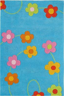 Koberec Paquerette − bleu, bavlna, různé velikosti abarevné provedení, 100 x 150cm,  cena 8500Kč  (VIBEL).
