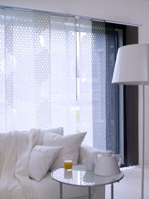 Průsvitný závěs Anno Ljuv (IKEA)