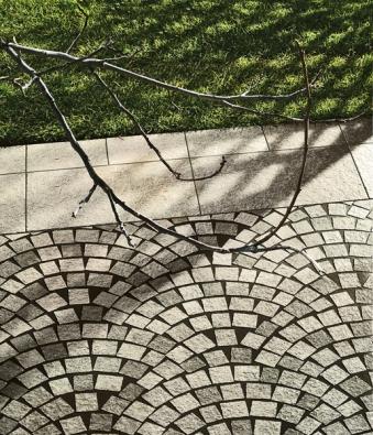 """Nejnovější série La corte zprodukce italské keramičky MIRAGE. """"Soud"""" se inspiruje přírodním kamenem. Vyrábí se ve formátech 15 x 15, 30 x 30, 30 x 60 cm vpovrchové úpravě natural (KERABEL)."""