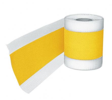 Těsnicí páska je systémový prvek sloužící kutěsnění apřemostění dilatačních, napojovacích arohových spár (BAUMIT).