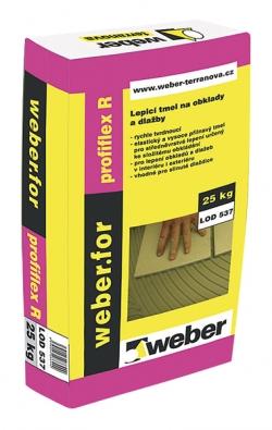 Lepicí hmota na dlažbu pro rychlé použití – plná zátěž je možná už cca po 6 hodinách (WEBER TERRANOVA).