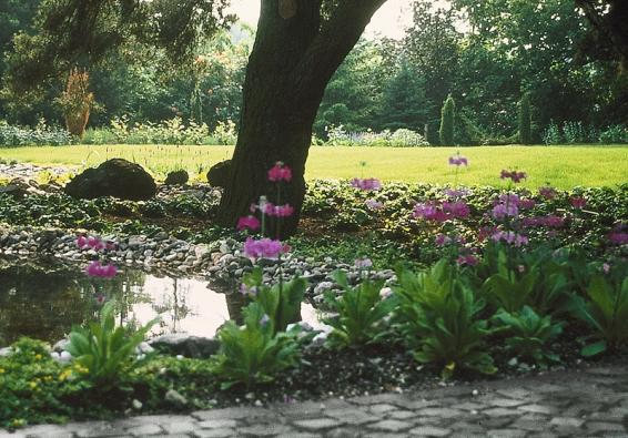 Rovná plocha vtrávníku dodává zahradě prostor ahloubku.