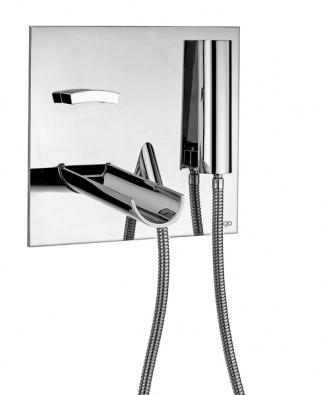 Vanová podomítková baterie Aquaviva (Bongio), design Antonio Bongio, Marco Poletti, Vegni Design, cena 112 324 Kč (AQUA TRADE).