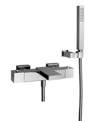 Vanová nástěnná termostatická baterie  Ego (Huber), cena19 742 Kč (AQUA TRADE).