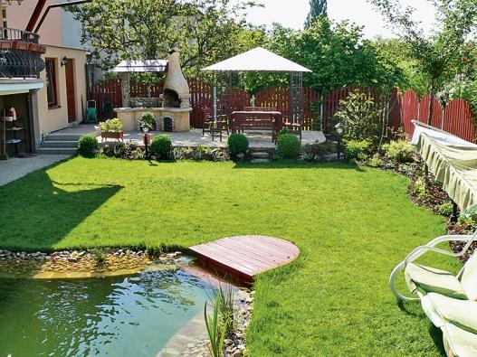 Celkový pohled na hlavní část zahrady