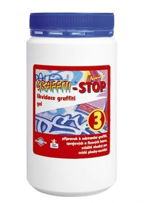 Graffiti-Stop se aplikuje nástřikem, štětcem, kartáčem nebo textilií anechá se dvě až pět minut působit. Nános se poté odstraní buď stěrkou, tlakovou vodou nebo tlakovou párou. Dočištění se vždy provádí vodou (Stachema).