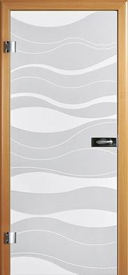 Skleněné dveře Kiel (Dana), konstrukce zdýhovaného masivu, satinované sklo upravené matováním avýbrusem, cena od 22080Kč (ŠIMBERA).