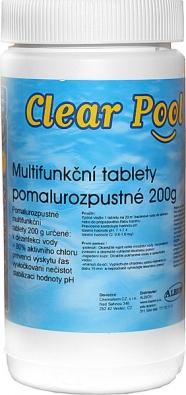 Multifunkční tablety kdezinfekci vody, prevenci výskytu řas, vyvločkování nečistot astabilizaci pH (ALBION).