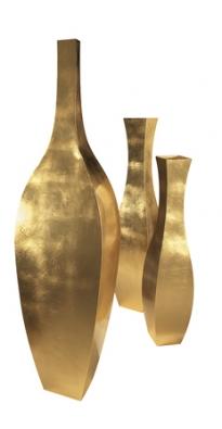 Váza Lolita (De Castelli), zlatá fólie, cena od 44286 do 77300Kč (ABITARE).