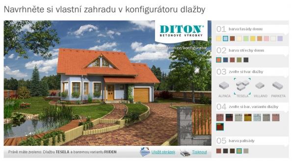 Konfigurátor zahrady od společnosti Diton
