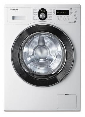 """Pračky Samsung dostaly """"diamantový"""" buben šetřící prádlo, které zároveň sterilizují ionty stříbra uvolňovaného zdestiček ve vaně."""