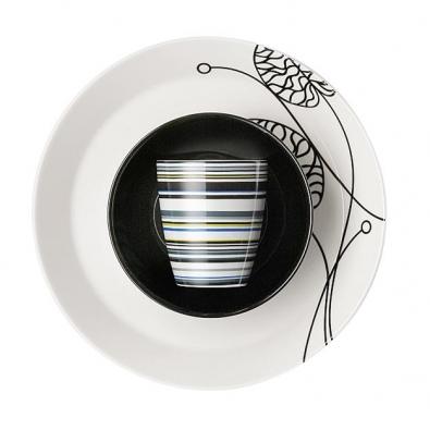 Bottna talíř (leknínové listy), výrobce Iittala, design Anna Danielsson.