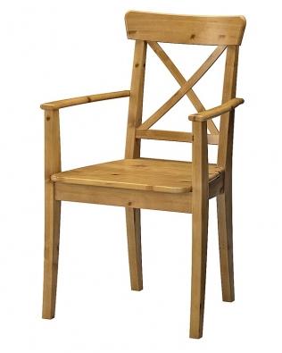 Ingolf, židle sopěrkami, design Carina Bengs, cena 1690Kč, mořidlo antik (IKEA).