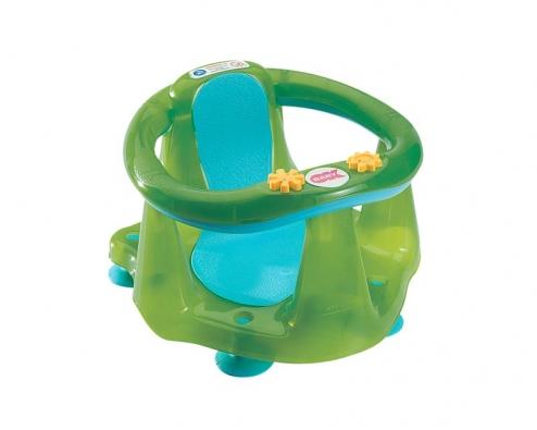 """Měkké opěradlo sedátka, ergonomický tvar adokonalé provedení bez ostrých hran zabezpečují příjemnou koupel iuvelmi """"živých"""" dětí. Pro děti od 6 do 15 měsíců ado 13kg (OK BABY)."""
