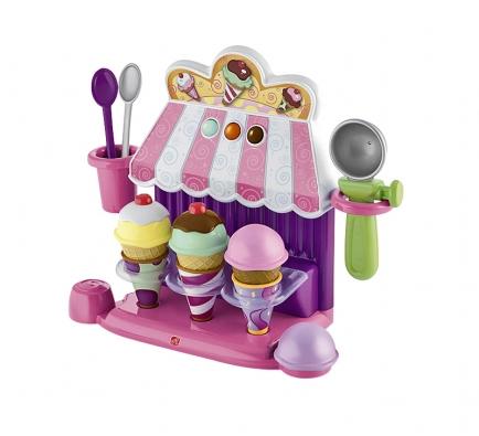 Zmrzlinářská živnost akávovar – vše ve veselých barvách. Kávovar sreálnými zvuky potěší každou holčičku ijejí kamarádku apo kávě si mohou zajít na pořádnou porci zmrzliny (vše BABYWELT.CZ).
